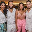 Bela Gil passou a virada do ano com o marido, João Paulo Demasi, a irmã Marina Morena e o cunhado. Em 2018, a apresentadora planeja um livro sobre maternidade