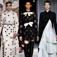 5) P&B: a união do preto com o branco dominou as passarelas da Semana de Alta-Costura de Paris, aparecendo em criações das maisons Dior, Giambattista Valli, Givenchy, Jean-Paul Gaultier e Valentino