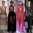 10) Transparência: a sensualidade dos tecidos finos e transparentes brilharam nas criações das grifes Schiaparelli, Dior, Elie Saab, Zuhair Murad e Ralph & Russo