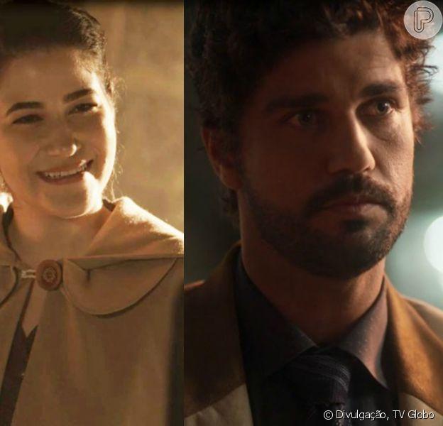 Na novela 'Tempo de Amar', Maria Vitória contará sobre beijo roubado por Inácio para Izabel e pedirá segredo à amiga em capítulo que vai ao ar no dia 15 de fevereiro de 2018