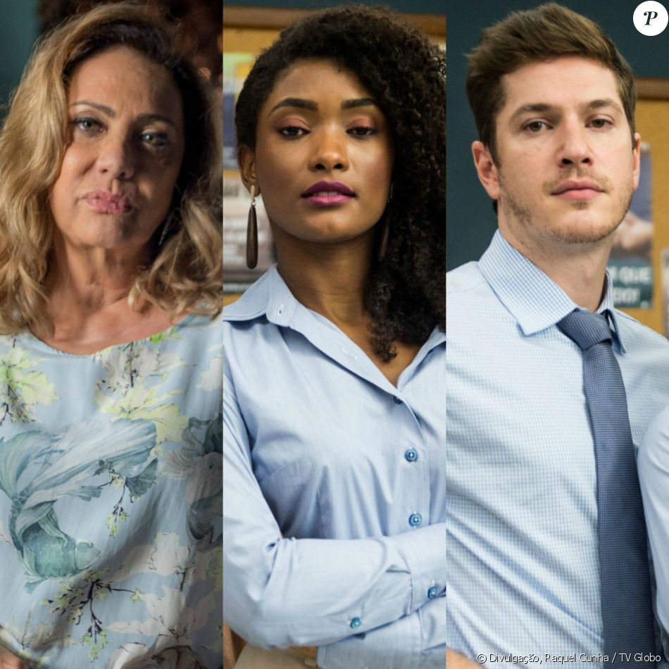 Nádia (Eliane Giardini) chama Raquel (Erika Januza) de 'preta paraplégica' e Bruno (Caio Paduan) a expulsa do hospital, na novela 'O Outro Lado do Paraíso'
