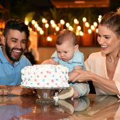 Andressa Suita contou sexo do 2º filho para Gusttavo Lima com bolo: 'Alegria'