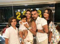 Kelly Key comemora 1 ano do filho Artur em foto com a família: 'Sonho realizado'