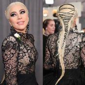 Trança de Lady Gaga no Grammy é inspirada em espartilho: 'Romântico e sedutor'
