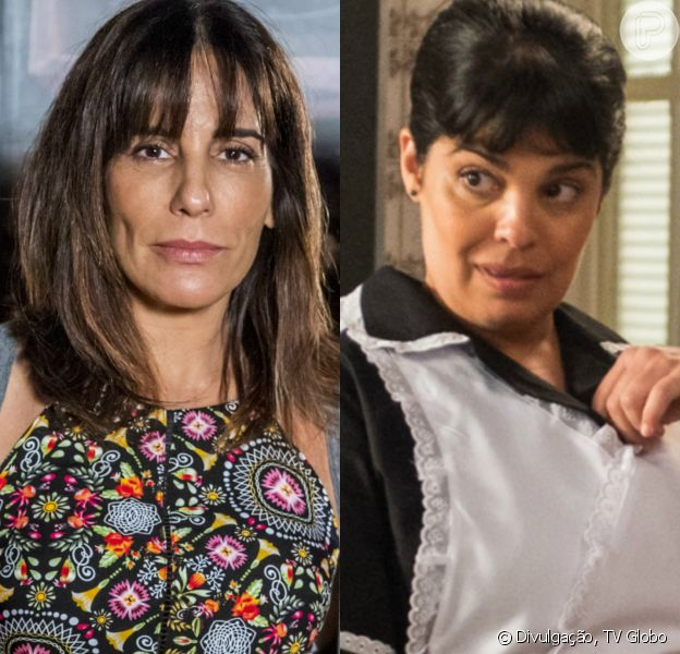 Duda/Bete (Gloria Pires) tem recaída em vício por bebibdas alcoólicas e pede que Janete (Daniela Fontan) lhe entregue uma garrafa, na novela 'O Outro Lado do Paraíso'