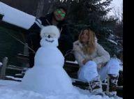 Marido filma Anitta fazendo boneco de neve: 'Nossa obra de arte'. Vídeo!