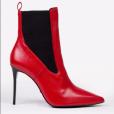 A bota de couro vermelha e fashionista da Le Lis Blanc é vendida por R$ 699,90