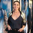 Giovanna Antonelli no lançamento da coleção de inverno da grife Le Lis Blanc, na rua Oscar Freire, em São Paulo, nesta quarta-feira, 31 de janeiro de 2018