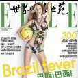 """Gisele Bündchen ganhou a capa da revista 'Elle' chinesa com o tema """"Brazil Fever' (Febre brasileira)"""