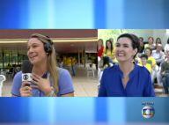Fernanda Gentil cai em pegadinha de Fátima Bernardes ao vivo: 'Não brinca assim'