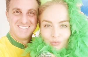 Angélica, Luciano Huck e outros famosos assistem a jogo do Brasil na Copa
