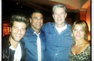 Bruno Gagliasso curte Las Vegas, nos EUA, com sogro e Giovanna Ewbank