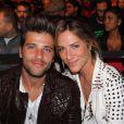 Bruno Gagliasso e Giovanna Ewbank, fãs de MMA, assistem a luta em Las Vegas