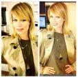 Mariana Ximenes mostrou em seu Instagram seu novo visual, com fios alongados e repicados, em 4 de fevereiro de 2013