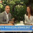 Depois de ganhar fama internacional por roubar a cena do casamento real de Kate Middleton e do príncipe William, Pippa Middleton concede uma entrevista para a TV pela primeira vez