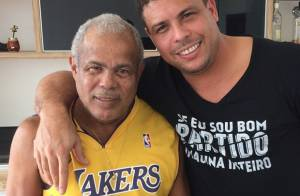 Pai de Ronaldo posa sorridente após tratar pneumonia: 'Forte como um trator'