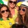 Bruna Marquezine assiste à vitória do Brasil contra a Colômbia e vê Neymar sair chorando do campo (4 de julho de 2014)
