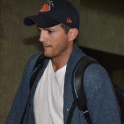 Ashton Kutcher desembarca em SP sem a noiva, Mila Kunis, após viagem à Itália