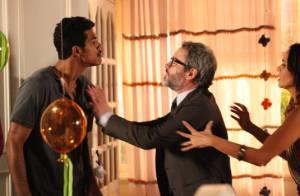 'Em Família': Jairo chora e cospe em Nando ao descobrir que não é pai de Bia