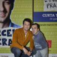 Marcelo Serrado escreveu o espetáculo 'É o que temos pra hoje', que reestreou no Rio de Janeiro; humorista Gigante Léo faz participação