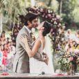 Isis Valverde se casou com modelo André Resende em uma cerimônia realizada a céu aberto no espaço Lago Buriti, em Guaratiba, Zona Oeste do Rio de Janeiro, na tarde deste domingo, 10 de junho de 2018