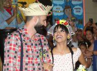 Ex-BBB Gleici se casa com o namorado, Wagner, em festa junina no Rio. Fotos!