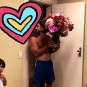 Juliana Paes ganha flores do marido e mostra reação do filho Pedro. Vídeo!