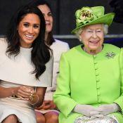 Meghan Markle confunde protocolo em viagem e rainha Elizabeth a ajuda. Entenda!