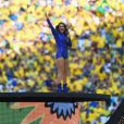 Claudia Leitte  relembrou a abertura da Copa 2014 nesta quinta-feira, 14 de junho de 2018