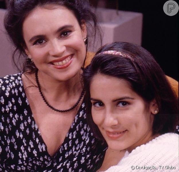 Na novela 'Vale Tudo', Raquel Accioli (Regina Duarte), mãe de Maria de Fátima (Glória Pires), se destaca pela integridade, já a filha é capaz de qualquer coisa para se dar bem na vida, sem esconder seu horror pela pobreza