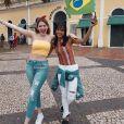 Ex-BBB Ana Clara, no Acre a trabalho, encontra Gleici nesta sexta-feira, dia 15 de junho de 2018