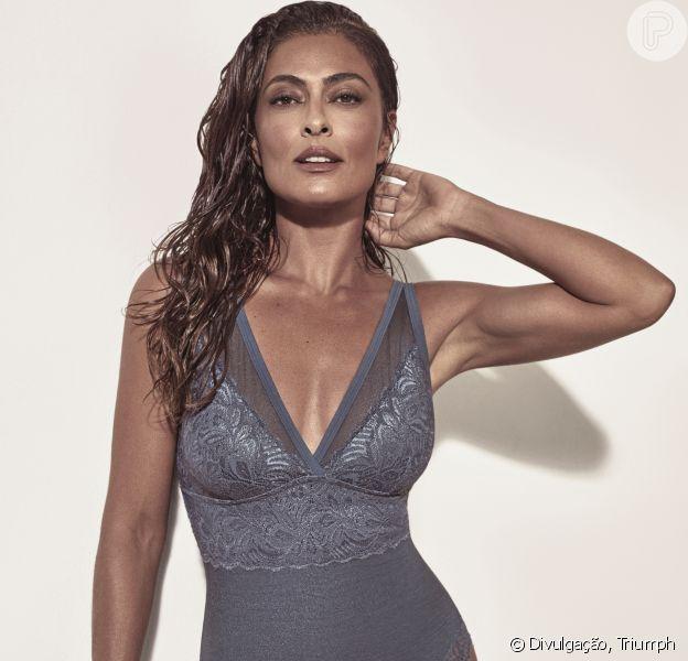 Juliana Paes estrelou a campanha da nova linha de lingerie da Triumph. A coleção é uma parceria da atriz com a marca
