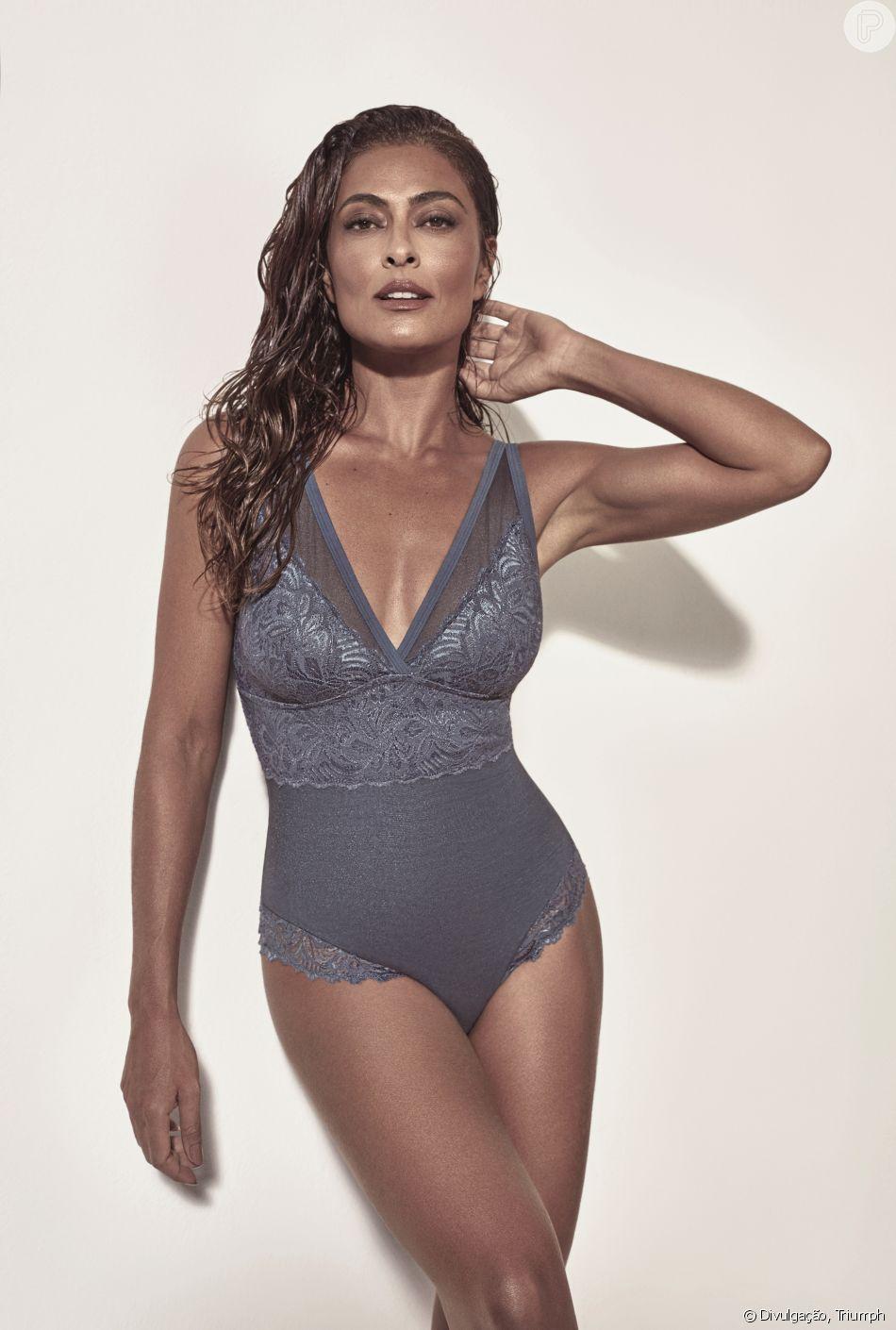 c53a5bd3e Juliana Paes estrelou a campanha da nova linha de lingerie da Triumph. A  coleção é