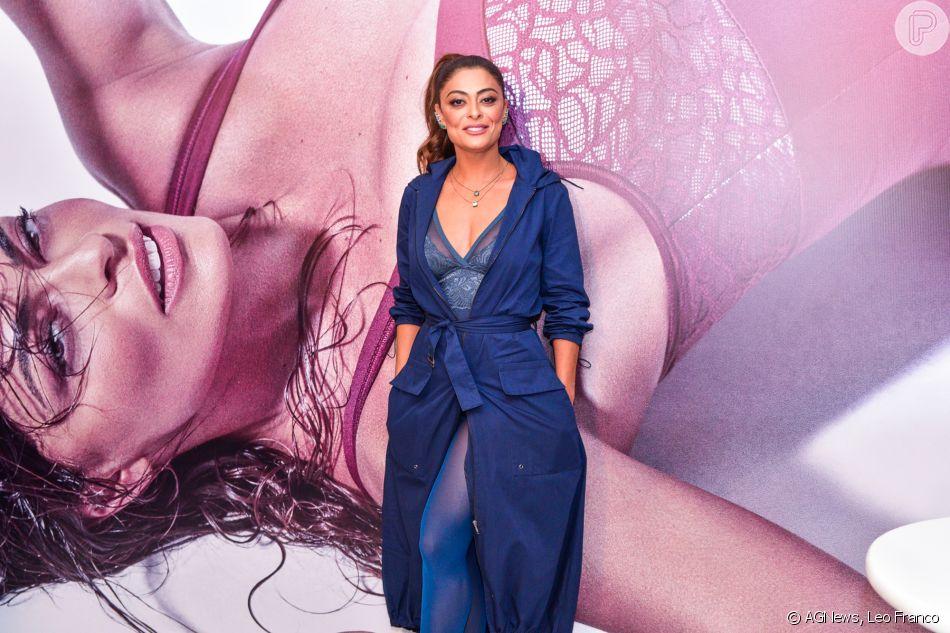 7ce25122a Juliana Paes lançou a coleção em parceria com a Triump no Salão Moda  Brasil