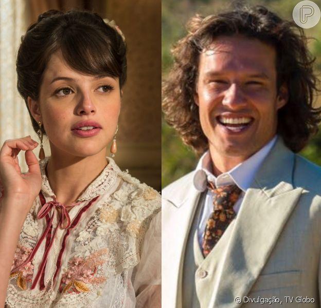 Ema (Agatha Moreira) vai romper noivado com Edmundo (Nando Rodrigues) por imposição do pai, Aurélio (Marcelo Faria) nos próximos capítulos da novela 'Orgulho e Paixão'