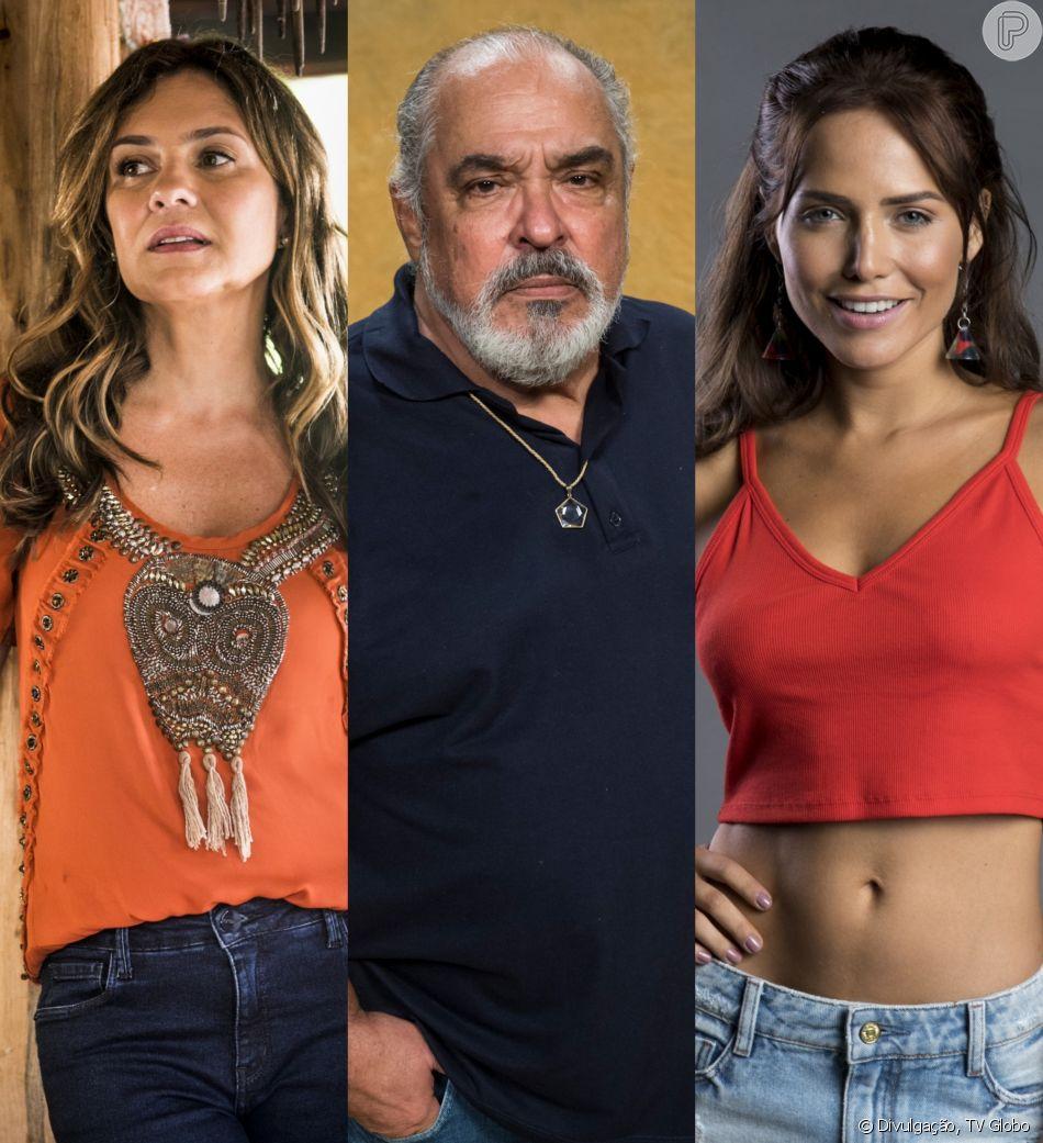Na novela 'Segundo Sol': Laureta (Adriana Esteves) revela para o pai de Rosa (Leticia Colin) que ela é prostituta: 'Vergonha' no capítulo que vai ao ar no dia 14 de julho