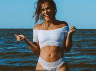 Cleo posa de lingerie branca no mar e fãs a pedem em namoro: 'Me dá uma chance?'