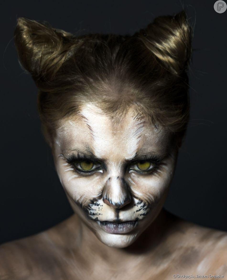 A onça parda, também conhecida como puma, foi feita no rosto da Luísa Sonza