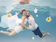 Na reta final da gravidez, ex-'MasterChef' Taise faz ensaio subaquático. Fotos!