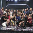 O elenco do 'Power Couple Brasil' reunido na final do reality show, nesta quinta-feira, 28 de junho de 2018