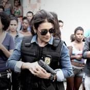 'O Rebu': Dira Paes e Marcos Palmeira gravam cena de tiroteio em favela no Rio