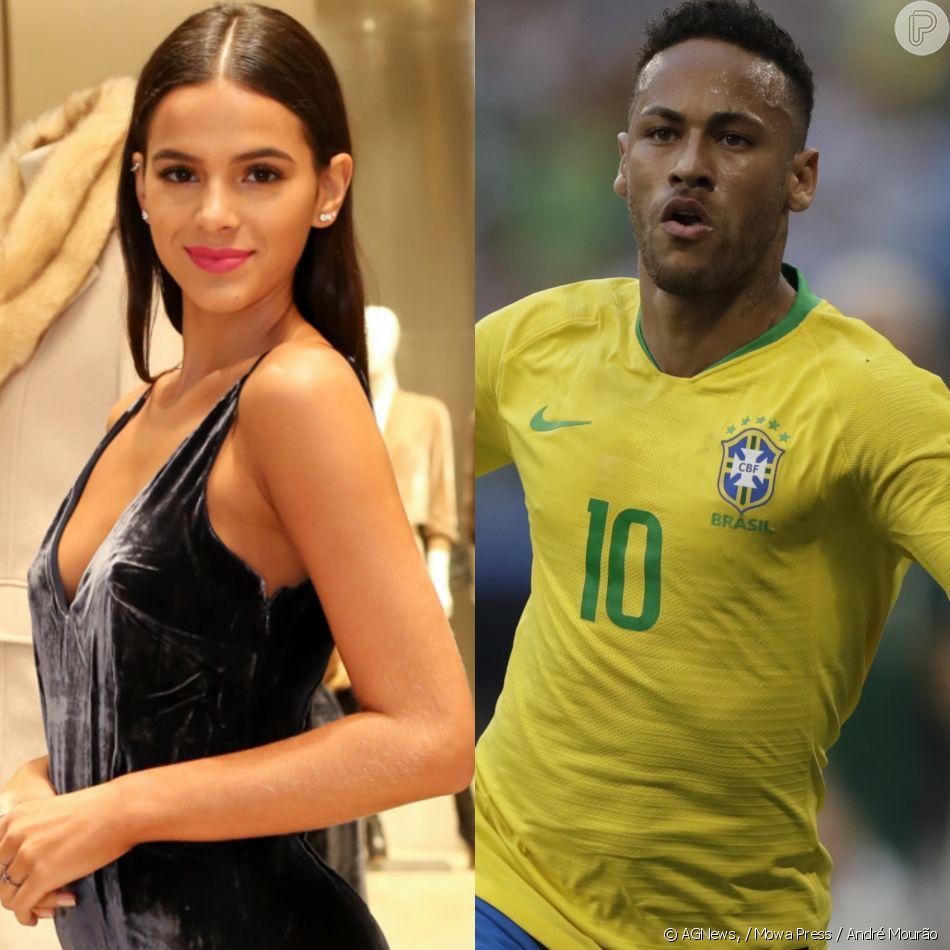c75093427e Bruna Marquezine parabenizou Neymar por seu desempenho no jogo do Brasil  contra o México nesta segunda