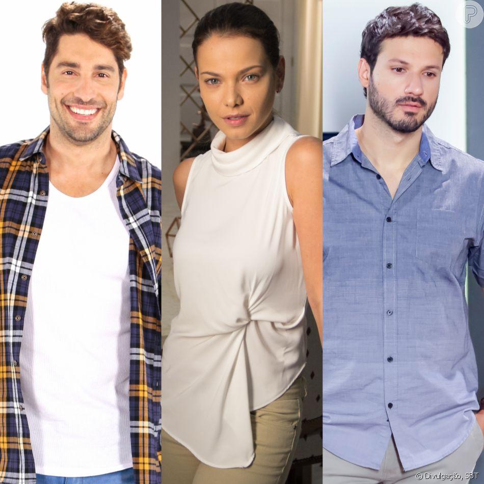 Luísa (Milena Toscano) aceita sair com Afonso (Victor Pecoraro) e fica constrangida ao encontrar Marcelo (Murilo Cezar) em exposição de arte na novela 'As Aventuras de Poliana'