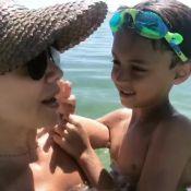 Eliana exibe momento com filho, Arthur, em praia de Miami: 'Que delícia'. Vídeo!