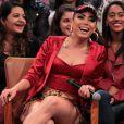 Anitta participou da gravação do programa 'Altas Horas' e falou sobre o seu novo clipe de 'Na Batida', que será lançado em breve