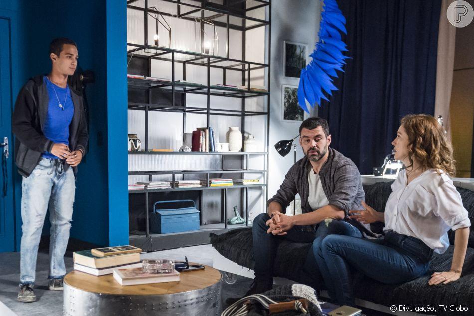 Márcio (André Luiz Frambach) não gosta do namoro do pai, Rafael (Carmo Dalla Vecchia), com Gabriela (Camila Morgado) e faz de tudo para sabotar o casal, a partir do capítulo de quarta-feira, 25 de julho de 2018 da novela 'Malhação: Vidas Brasileiras'