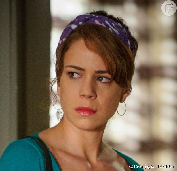 Novela 'Império': Cristina (Leandra Leal) revela a José Alfredo (Alexandre Nero) ser filha de Eliane (Malu Galli)