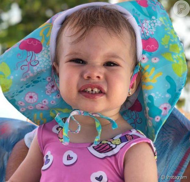 Melinda, filha de Michel Teló e Thais Fersoza, completou dois anos nesta quarta-feira, 1º de agosto de 2018