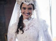Recatado e barroco: o vestido de noiva de Juliana Paiva em 'O Tempo Não Para'