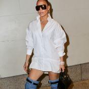 A volta da over the knee? Jennifer Lopez escolhe botas Versace para evento em NY
